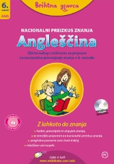 BRIHTNA GLAVCA-ANGLEŠČINA 6-NPZ S CD