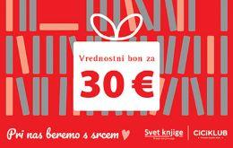 DARILNI BON ZA 30 EUR - BEREMO S SRCEM