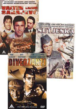 DVD PARTIZANSKI FILMI 3 DVD(SUTJESKA-VALTER BRANI SARAJEVO-DIVERZA